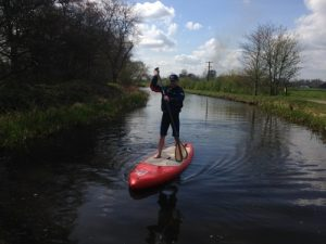 Deano on the Union Canal near Ratho. Photo courtesy of Wilderness SUP