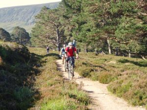 Deano, Rhona and Colin mountainbiking - photo courtesy of Dennis Underwood