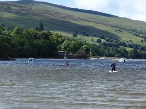 Too rough to stand up on Loch Tay - 13.07.14