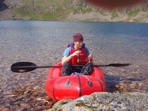 Rhona in the Alpackaraft - photo courtesy of Dennis Underwood