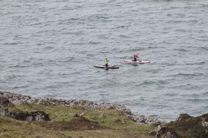Coming on to the west coast of Kerrera after 3 hours of hard paddling, without a break - photo courtesy of Patrick Winterton