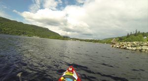 If that's the Crannog Centre, I must almost be there - Kenmore, 20.07.14