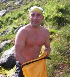 Deano seconds after getting out of the loch