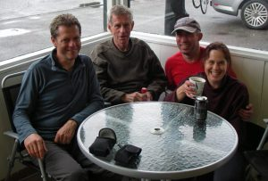 Team photo - Dennis, Colin, Deano & Rhona