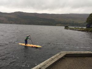 Joanne Hamilton Vale looking fresh at the end of Loch Ness