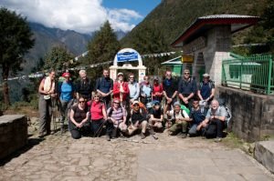 End of the trek at Lukla - courtesy of Eddie Adams