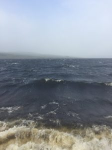 40mph cross winds on Loch Shin