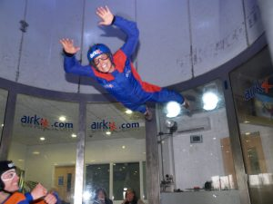 Rhona indoor skydiving - Photo courtesy of Airkix, Manchester