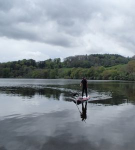 Deano on a glassy flat Clunie Loch