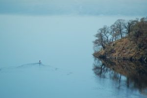 Heading up Loch Tummel - photo courtesy of Kate Walder