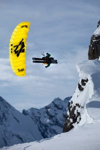 Ueli Kestenholz in speed riding action on the Schilthorn