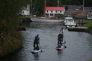 Setting off down the Crinan Canal