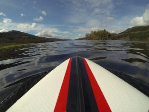 Heading back up the loch, ready for my 2nd fuel break