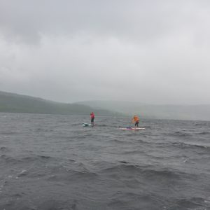 Allistair and Deano on Loch Awe - Photo courtesy of Ian, SUP Ecosse