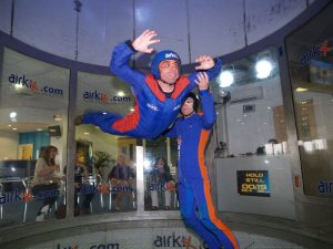 Deano indoor skydiving - Photo courtesy of Airkix, Manchester