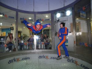 Deano indoor skydiving , Photo courtesy of Airkix, Manchester