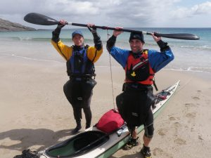 Jane & Deano make it safely to Mingulay! - Photo courtesy of Patrick Winterton