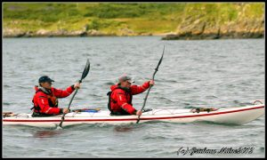 Deano and Patrick head off to the start of the race - photo courtesy of Graham Milne