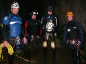 Ben, Deano, Carl and Miguel toward the end of the caves.