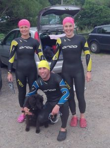 Pre-race - Julie, Rhona, Stumpy, and Deano