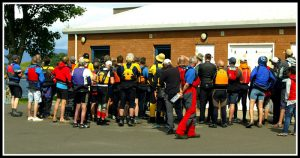 Pre-race briefing - photo courtesy of Graham Milne