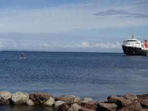 Setting out from Brodick in the sunshine